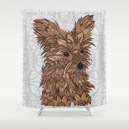 Cute Yorkie Shower Curtain