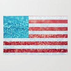 Red, White, and Glitter (Photo of Glitter) Rug