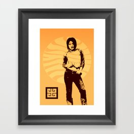 jean ad 3 Framed Art Print