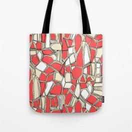 BROKEN POP coral Tote Bag
