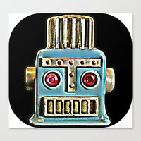 robot Canvas Prints featuring Robot by Silvio Ledbetter