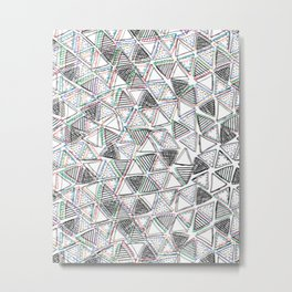 The Blurry Triangles Metal Print