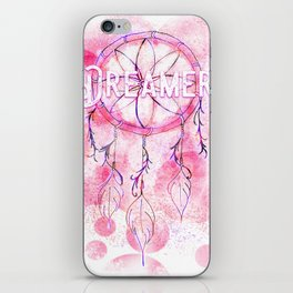 Pink and purple dreamer dream catcher iPhone Skin