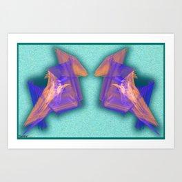 Frakblot Paper Dino Art Print