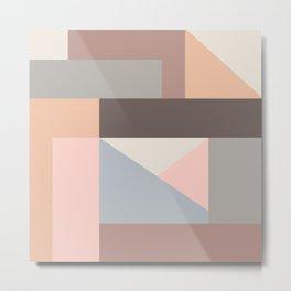 Abstract pastel color blocks Metal Print