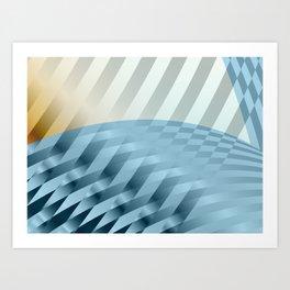 Ribbon Wave Art Print