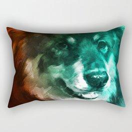 Scary Dog Rectangular Pillow