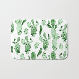 Green Cactus Field - Large Bath Mat