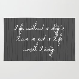 Life Without A Dog's Love Rug