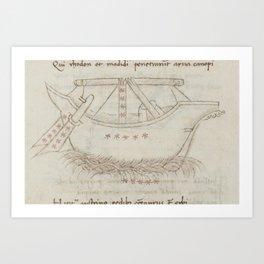 Basinio de Parma - Argo Navis (1540s) Art Print