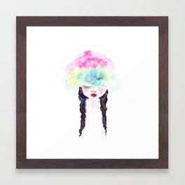 Creative mind Creative soul - watercolors girl Framed Art Print