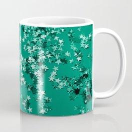 Emerald Glitter Stars #1 #shiny #decor #art #society6 Coffee Mug