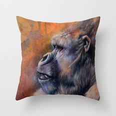 Gorilla: The Portrait of a Stolen Voice Throw Pillow