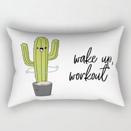 Cactus workout Rectangular Pillow