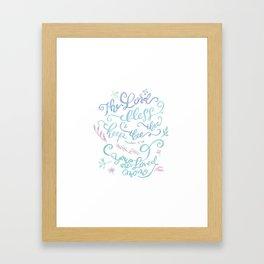 You Are Loved Mom - Number 6:24 Framed Art Print