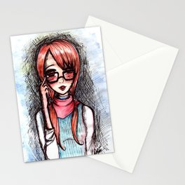 Nerdy ginger Stationery Cards