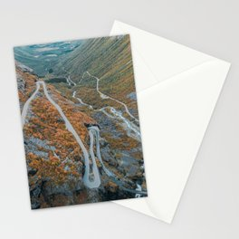 Road Mountains in Norway Stationery Cards