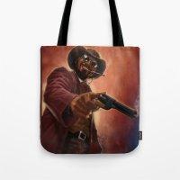 django Tote Bags featuring Django by Andrea Mangiri
