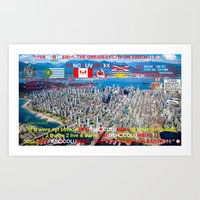 VANCOUVER - THE GREATEST CITY ON EARTH !!!!! BRITISH COLUMBIA - THE BEST PLACE ON EARTH !!!!! Art Print