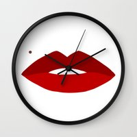vogue Wall Clocks featuring Vogue by Water On Mars