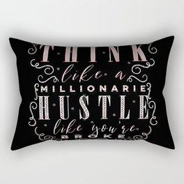 Think like a Millionaire Rectangular Pillow