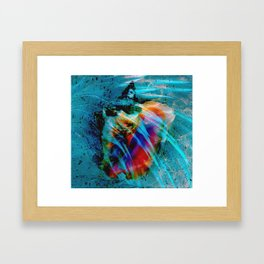 Junkanoo Conch Blue Framed Art Print