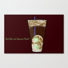 Root Beer and SpuMOONi (spumoni) Float Canvas Print