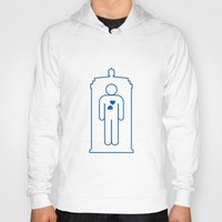 bathroom Hoodies featuring Doctor Who Bathroom Sign by Bright Ideas Studio