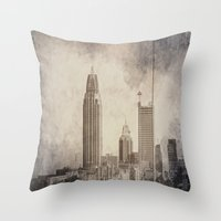 alabama Throw Pillows featuring Mobile, Alabama by Judith Lee Folde Photography & Art