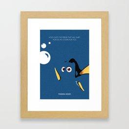 Hi I am Dory Framed Art Print