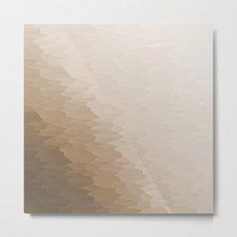 Beige Ombre Texture Metal Print