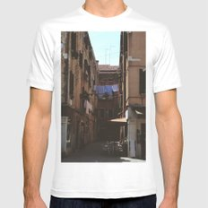 Calle Marcello White Mens Fitted Tee MEDIUM