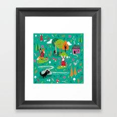 Little Red Riding Rabbit Framed Art Print