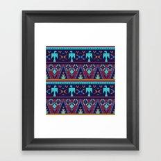 American Native Pattern No. 34 Framed Art Print
