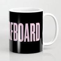 surfboard Mugs featuring Surfboard by Marianna