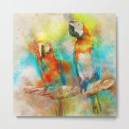 Abstract Parrots Metal Print