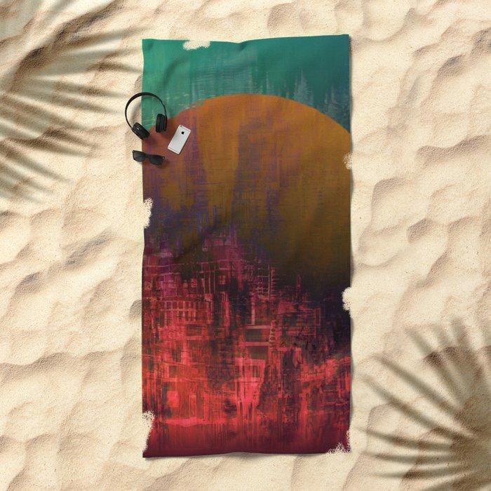 Fantastic Planet / Urban Fantasy Beach Towel