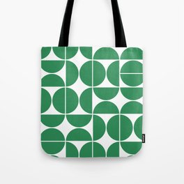 Mid Century Modern Geometric 04 Green Tote Bag