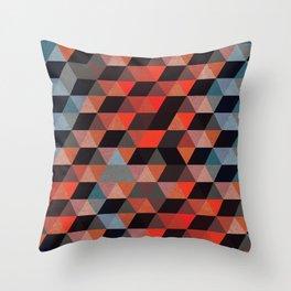 Textured Geometric Throw Pillow