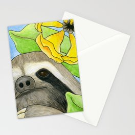Tropical Sloth Stationery Cards
