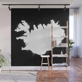 Iceland W&B Wall Mural