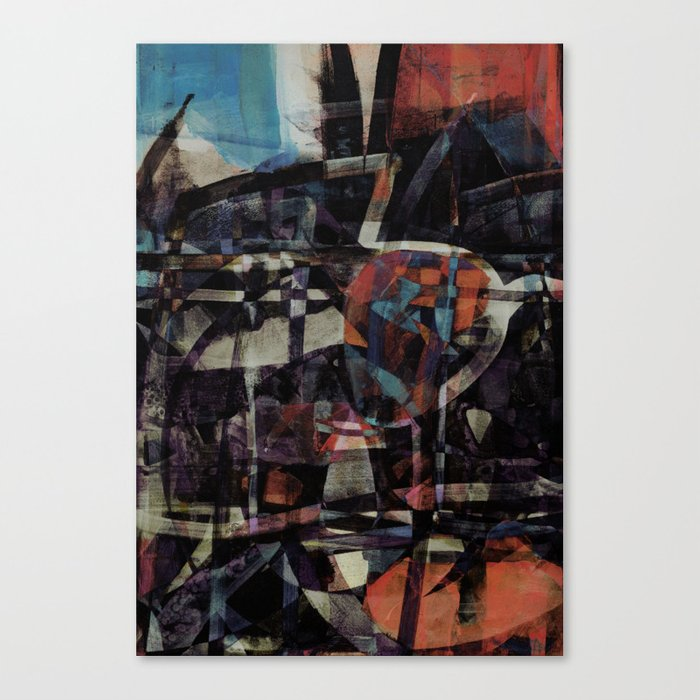 disquiet twenty five (I'm absent from the place I ought to be) Canvas Print