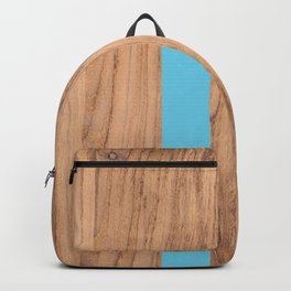Wood Grain Stripes Light Blue #807 Backpack