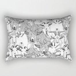 just goats black white Rectangular Pillow