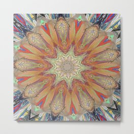 Targeted Passion Mandala Metal Print