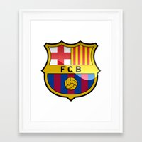 barcelona Framed Art Prints featuring BARCELONA by Acus