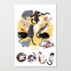 Cat Business Canvas Print