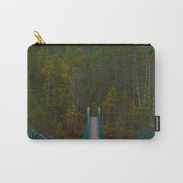 Suspension Bridge along the Berg Lake Trail in British Columbia, Canada Carry-All Pouch