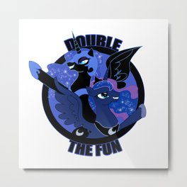 Double the Fun Metal Print