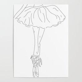 ballerina sketch Poster